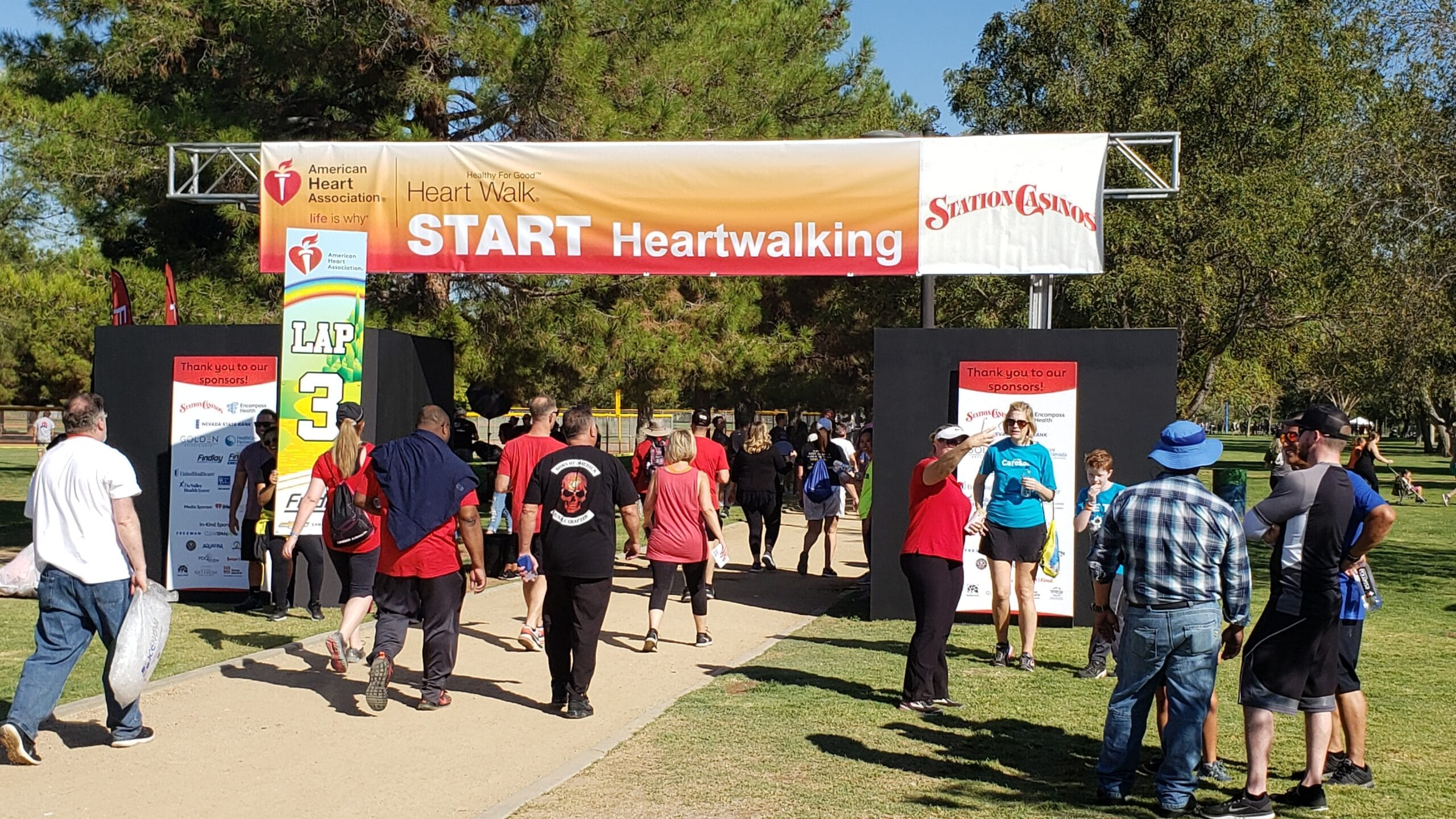 2019 American Heart Association Heart Walk Starting Line
