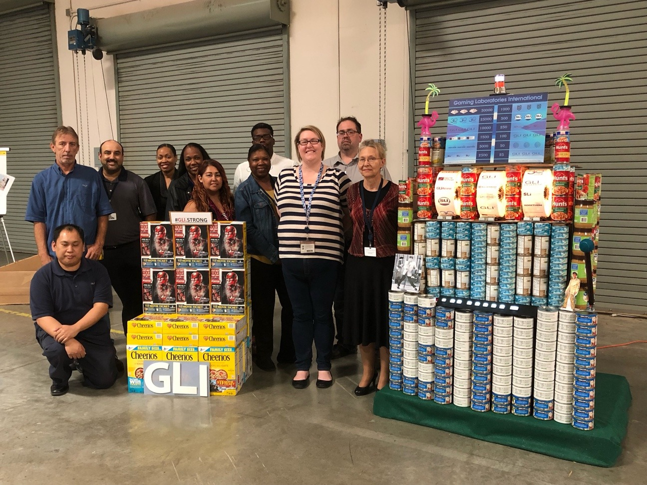 Las Vegas Office Canned Food Charity Competition